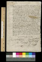 Legal documents concerning the inventory of the estate of Jean Nicollet